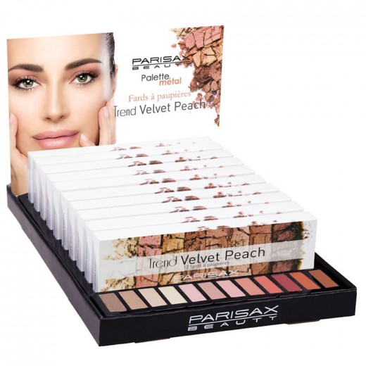 Parisax Display de 10 palettes Velvet Peach , Présentoir produits
