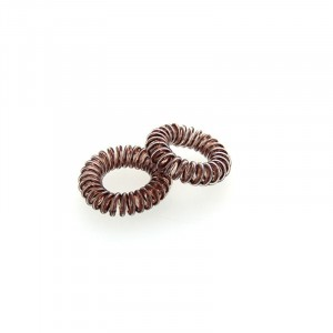 Coiffeo Hair ring Set x3 Marron métallisé, Elastique