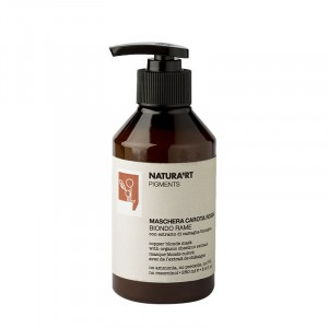 Natura'rt Masque blond cuivré Red Carrot 250ML, Après-shampoing repigmentant