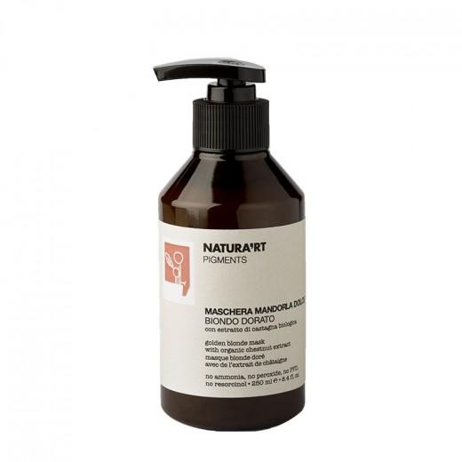 Natura'rt Masque repigmentant Sweet Almond blond doré 250ML, Après-shampoing repigmentant