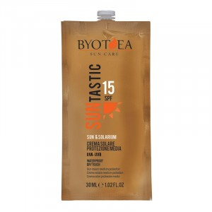 Byotea Crème solaire waterproof SPF15 moyenne protection 30ML, Solaire