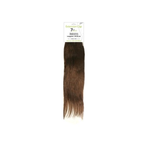 Bandeaux extensions naturelles chatain clair 7eme Element