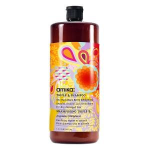 Amika Shampooing réparateur Triple RX Shampoo 1000ML, Cosmétique