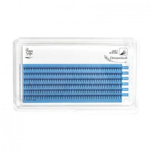 Peggy Sage Extension de cils de soie 6D  - courbe naturelle 010 x 8-10-12mm, Extensions de cils