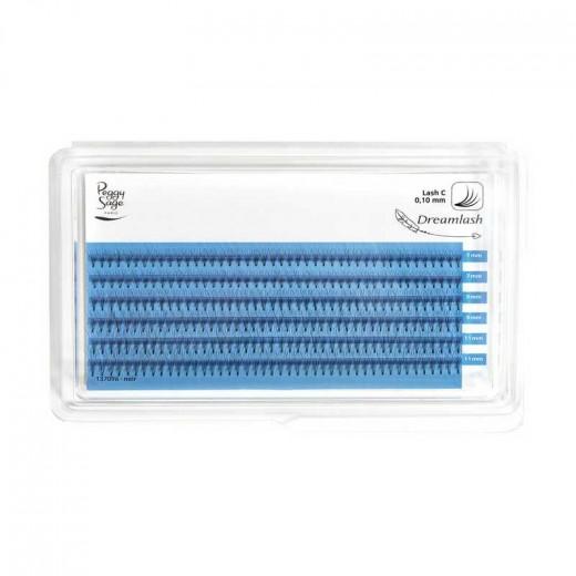 Peggy Sage Extension de cils de soie 4D  - courbe extrême 010 x 7-9-11mm, Extensions de cils