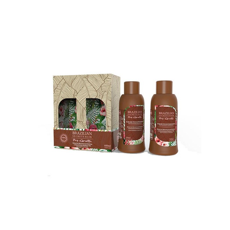 Brazilian Secrets Hair Kit Sublime Touch Pro keratin (2x300ml) 600ML, Shampoing entretien