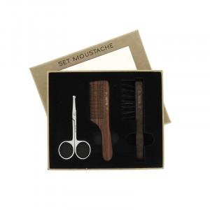 Set moustache - ciseaux - peigne - brosse