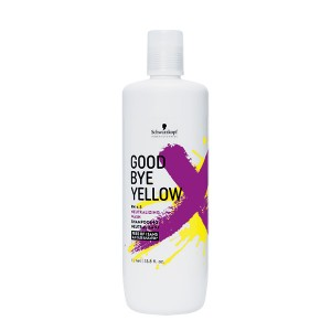 Schwarzkopf Shampooing neutralisant Goodbye Yellow 1L 1000ML, Cosmétique
