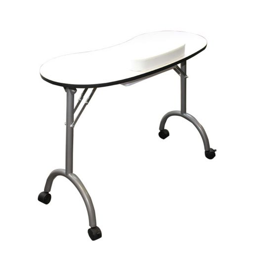Queen Pam Table manucure pliante Blanche, Table manucure