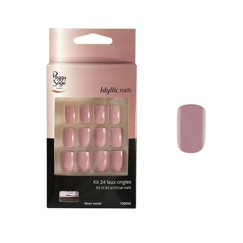 Peggy Sage Faux ongles Idyllic nails - Rose wood x24, Faux-ongles