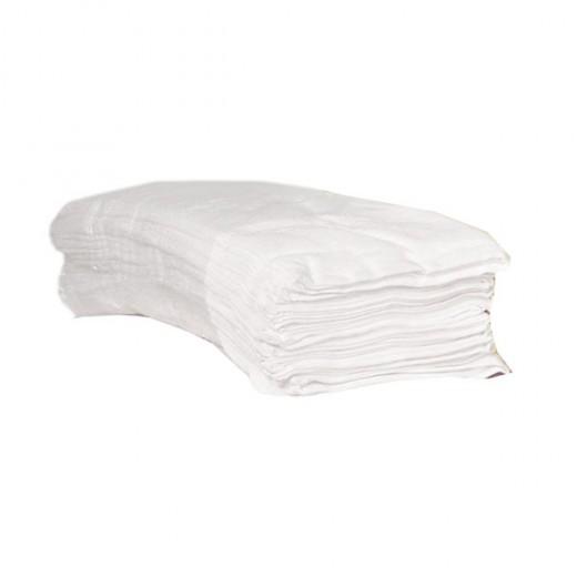 Lot de 12 serviettes éponge blanches