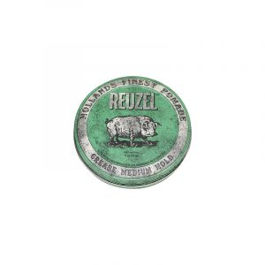Reuzel Cire pour cheveux fixation moyenne - Green grease pomade 113g, Cire