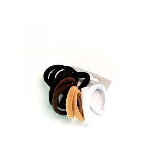 Elastiques sans métal Noir & marron x10