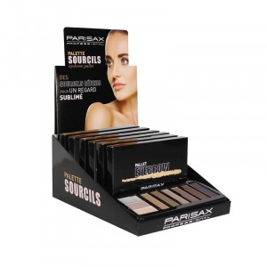 Parisax Display de 6 palettes Highlighter Eyebrown, Palette sourcils