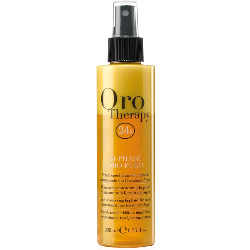 Oro Therapy Bi-phase restructurant sans rinçage 200ML, Spray cheveux