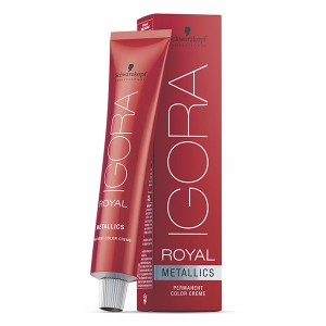 Schwarzkopf Coloration permanente Igora Royal Metallics 60ML, Coloration d'oxydation