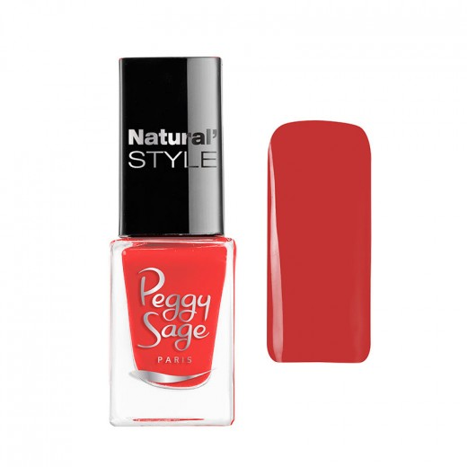Peggy Sage Mini vernis à ongles Natural'Style Garance 5ML, Vernis à ongles couleur
