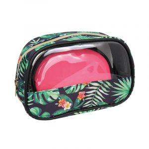 Parisax Set 2 trousses de beauté Jungle & Rose, Trousse maquillage
