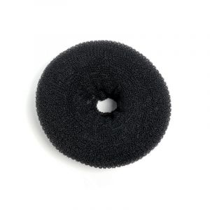 Sibel Couronne chignon XXL Noir 18cm, Ornement