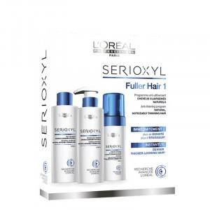 L'Oréal Professionnel Kit Fuller Hair Serioxyl cheveux naturels 625ML, Shampoing traitant