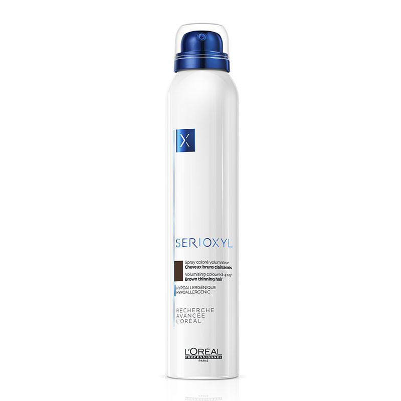 Spray coloré volumateur - Cheveux clairsemés Brun Serioxyl