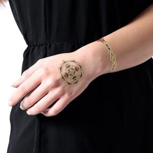 Sioou 1 planche de 5 tatouages éphémères corps bracelets, Maquillage corps