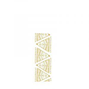 Sioou 1 planche de 5 tatouages éphémères corps bracelets doré, Maquillage corps