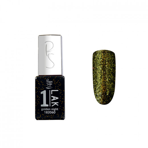 Peggy Sage Mini vernis semi-permanent 1-LAK - Golden night 5ml, Vernis semi-permanent couleur