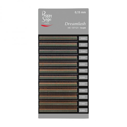 Peggy Sage Extensions de sourcils Dreamlash 0.15 x 4-5-6-7-8mm Taupe, Extensions de cils