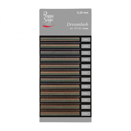 Peggy Sage Extensions de sourcils Dreamlash 0.20 x 4-5-6-7-8mm Taupe, Extensions de cils