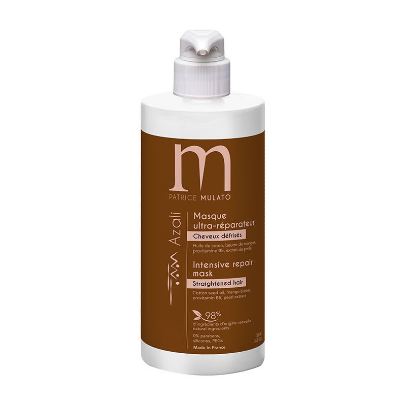 Mulato Masque ultra-réparateur Azali - Cheveux défrisés 500ml, Après-shampoing naturel