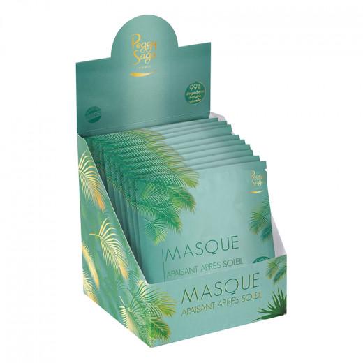 Peggy Sage Présentoir 24 masques visage apaisant après-soleil, Présentoir produits