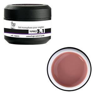 Peggy Sage Gel de construction 3 en 1 Pro 3.1 Camouflage natural pink 15g, Gel construction