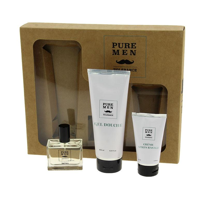 Pure Men Tolerance Coffret parfum Trendy 300ml (gel douche + parfum + après-rasage), Homme
