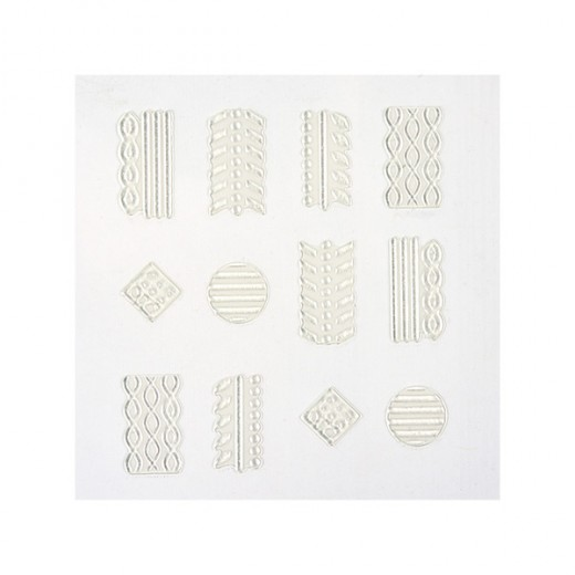 Peggy Sage Décors adhésifs pour ongles Sweater nails, Sticker décoratif