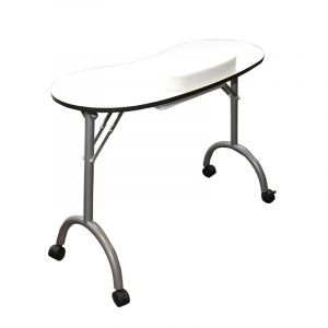 Table manucure pliante Blanche