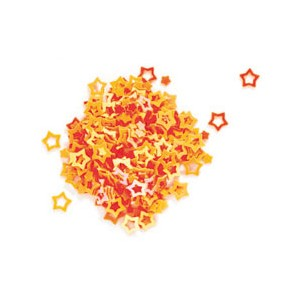 Peggy Sage Paillettes pour ongles et corps Stars orange, Nail Art Strass