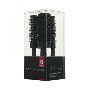 Brosses de brushing x4 Set Noir