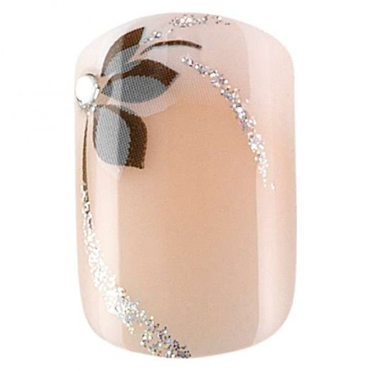 Peggy Sage Faux ongles idyllic nails Set x24 Shiny flowers, Faux-ongles