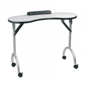 Peggy Sage Table manucure pliante Blanc, Table manucure