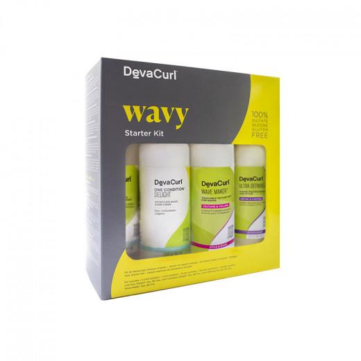 DevaCurl Kit decouverte Wavy format voyage (4x88.7ml) 354ML, Coffret