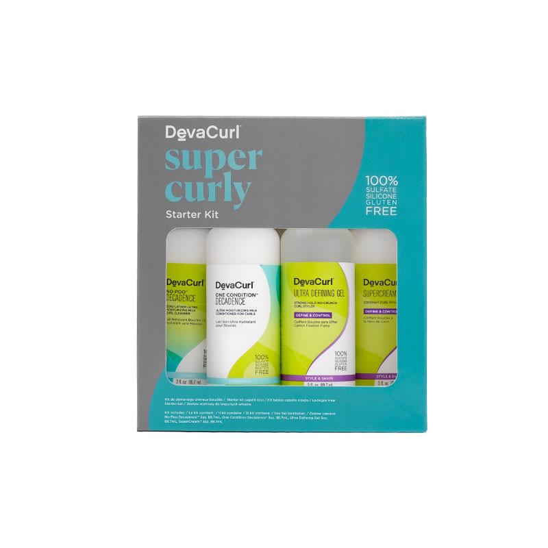 DevaCurl Kit decouverte Super Curly format voyage (4x88.7ml) 354ML, Coffret
