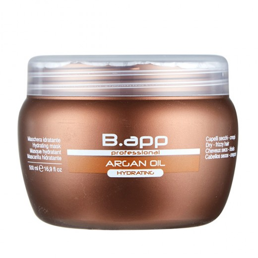 B-App Masque hydratant Hydrating huile d'argan 500ML, Masque cheveux