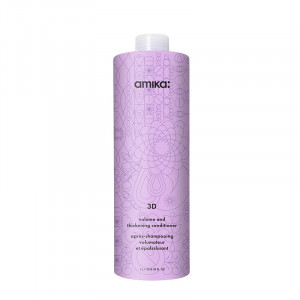 Amika Après-shampooing volumisant - Volume & thickening conditioner 3D 1000ml, Après-shampoing avec rinçage