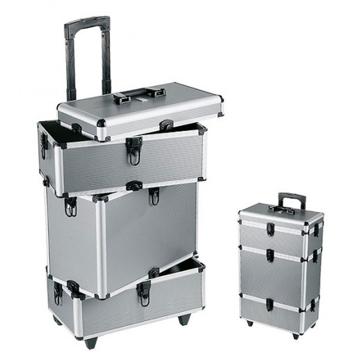 Peggy Sage Valise professionnelle trolley Argent, Mallette maquillage