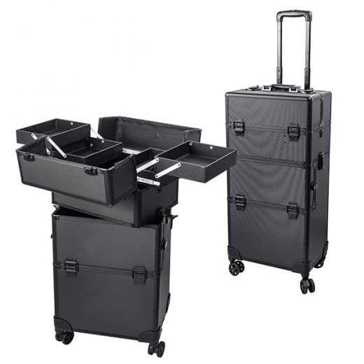 Peggy Sage Valise professionnelle trolley 2 en 1, Mallette maquillage
