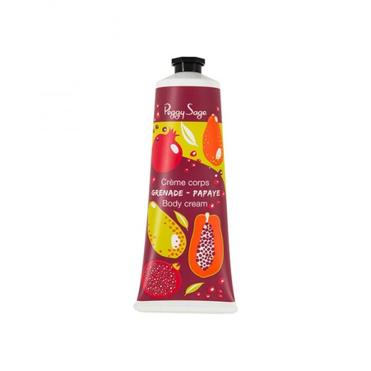 Peggy Sage Crème corps grenade papaye 125ML, Soin hydratant