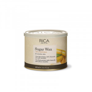 Rica Cire hydrosoluble 100% naturelle Sugar Wax 400ml, Pot de cire