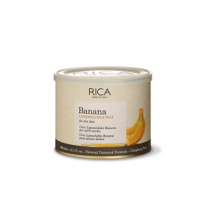 Rica Cire liposoluble à la Banane 400ml, Pot de cire