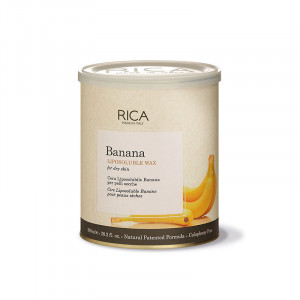 Rica Cire liposoluble à la Banane 800ml, Pot de cire